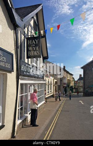 Secondhand Bookshop at Hay-on-Wye, Powys, Wales, Cymru, UK, United Kingdom, GB, Great Britain, British Isles, Europe - Stock Photo