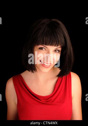 Pretty girl smiling - Stock Photo