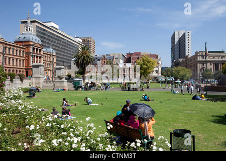 Church Square, Pretoria, Capital of South Africa, Transvaal, South Africa - Stock Photo