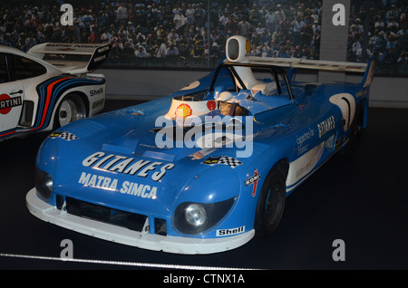A Matra Simca Le Mans Prototype car of the seventies in Cite l'Automobile (City of cars) Mulhouse , France - Stock Photo
