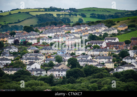 Penparcau, social housing council houses estate, on the outskirts of Aberystwyth Wales UK - Stock Photo