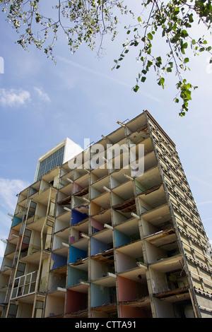 Demolition of the Elmington Council Estate, part of the Peckham regeneration program. Southwark, South London, UK. - Stock Photo
