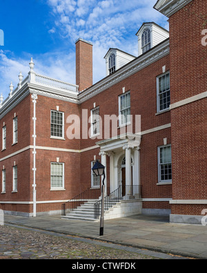 Library Hall founded by Ben Franklin in 1731. First library in the United States. Philadelphia, Pennsylvania, USA - Stock Photo