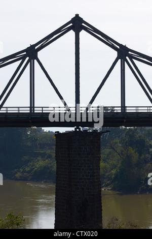 Steel girder bridge in Blumenau - Stock Photo