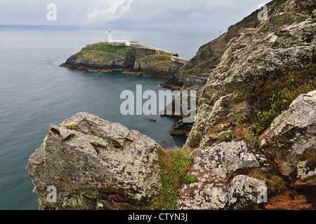 South Stack lighthouse, Holy Island, Anglesey, Wales - Stock Photo
