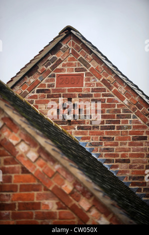 Brick Detail On The Gable Of A Barn Conversion In Progress