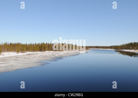 Typical Finnish lake in Karelia district, Finland - Stock Photo