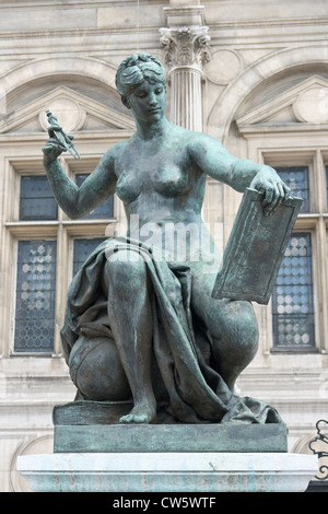 Science allegory Paris. - Stock Photo