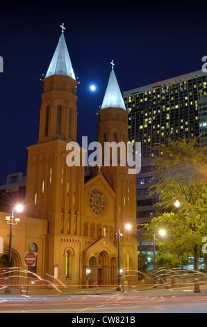 Sacred Heart Basilica in downtown Atlanta, Georgia, USA. - Stock Photo