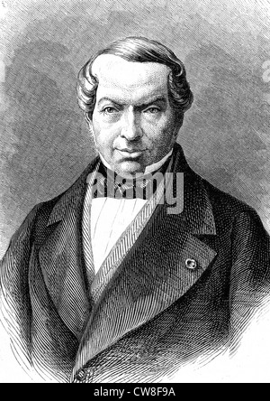 Portrait of James Mayer de Rothschild - Stock Photo
