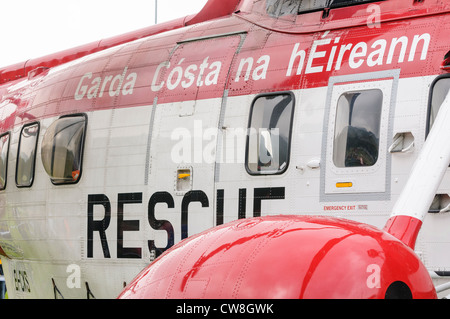 Irish coastguard Sigorsky S-61N - Stock Photo