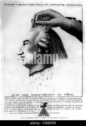 Louis XVI put to death - Stock Photo