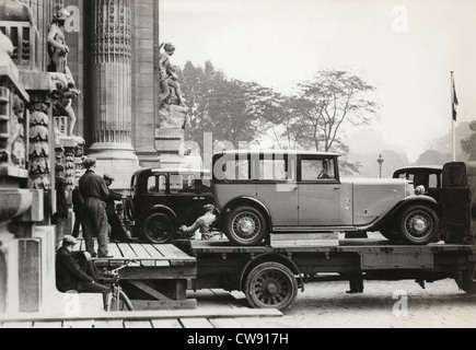Auto show in Paris, 1931 - Stock Photo