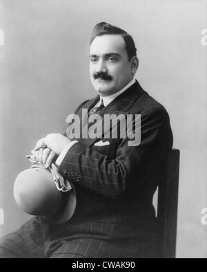 Enrico Caruso (1873-1921), Italian operatic tenor and international celebrity in 1907. - Stock Photo