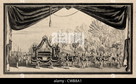 Zachary Taylor. Grand funeral pageant at New York July 23, 1850, in honor of the memory of Major General Zachary - Stock Photo