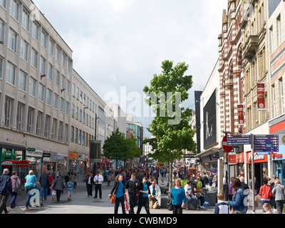 Looking towards Lord Street in Liverpool UK - Stock Photo