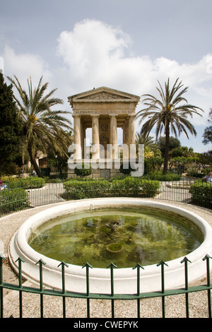 Europe, Malta, La Valletta, Upper Barrakka garden - Stock Photo