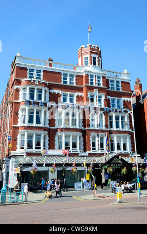 The Scarisbrick Hotel on Lord street in Southport, Lancashire, UK - Stock Photo
