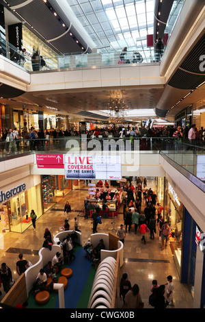 stratford London England Westfield Shopping Centre People Shopping - Stock Photo