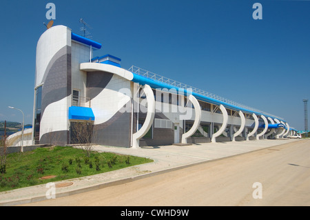 Construction of the biggest oceanarium in the CIS. Vladivostok island, Far East Primorsky Krai, Russian Federation - Stock Photo