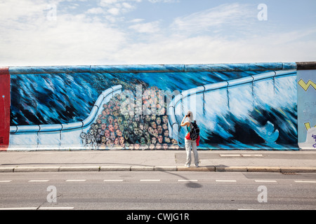 East Side Gallery, Berlin, Germany - Stock Photo