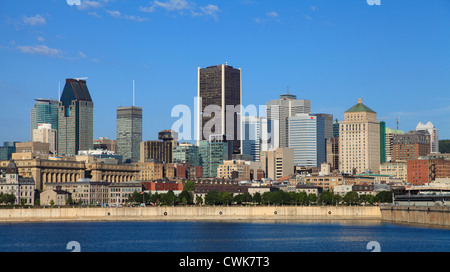 Canada, Quebec, Montreal, skyline, St Lawrence River, - Stock Photo