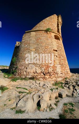 Coastal watchtower Puglia, Italy. - Stock Photo
