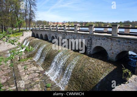 Pocernicky rybnik, Zamecky park, Dolni Pocernice, Praha, Ceska republika - Stock Photo