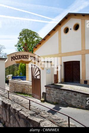 Pocernicky pivovar, Zamecky park, Dolni Pocernice, Praha, Ceska republika - Stock Photo