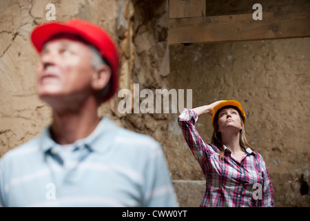 Construction workers on site - Stock Photo