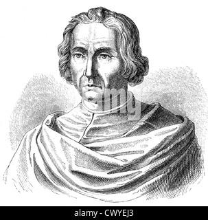 Christopher Columbus, Cristoforo Colombo, Cristobal Colon or Cristóvão Colombo, 1451 - 1506, discovery of America - Stock Photo