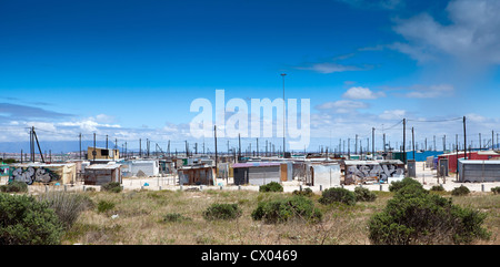 informal settlement in cape town, south africa - Stock Photo