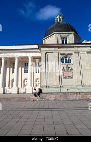 Cathedral square Vilnius Lithuania - Stock Photo