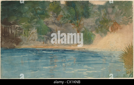 Winslow Homer, Blue Spring, Florida, American, 1836 - 1910, 1890, watercolor - Stock Photo