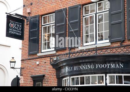 Running Footman Pub and Restaurant, Charles Street, Mayfair, London, UK - Stock Photo