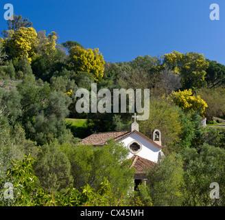 a small chapel at Caldas de Monchique spa, Algarve, Portugal - Stock Photo