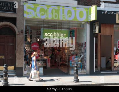 The Scribbler greetings card shop on Kings Road, Chelsea, London, SW3, UK. - Stock Photo