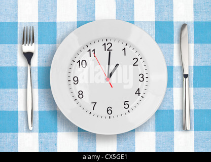 Lunch time concept - Stock Photo