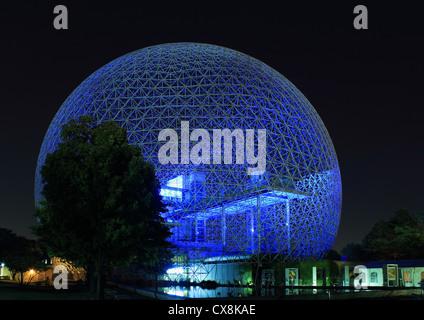Canada, Quebec, Montreal, the Biosphere by architect Richard Buckminster Fuller on Saint-Helen Island - Stock Photo