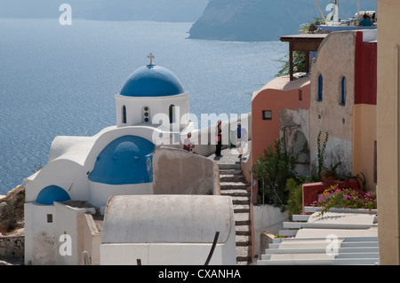 oia, santorini, greece - Stock Photo
