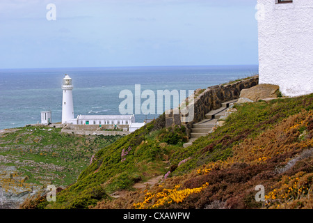 South Stack (Ynys Lawd), an island situated just off Holy Island on the North West coast of Anglesey, Wales, United - Stock Photo