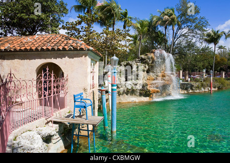 Venetian Pool, Coral Gables, Miami, Florida, United States of America, North America - Stock Photo