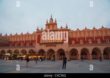 Sukiennice the cloth hall exterior at Rynek Glowny main market square old town Krakow city Malopolska region Poland - Stock Photo