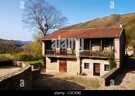 Mountain house in Barcena Mayor region of saja-nansa Cantabria Spain - Stock Photo