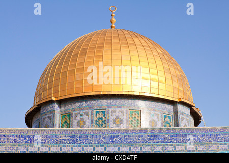 Dome of the Rock, Temple Mount, Old City, UNESCO World Heritage Site, Jerusalem, Israel, Middle East - Stock Photo