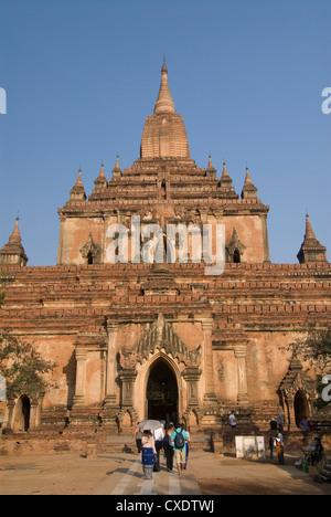 Htilominlo Pahto, Bagan (Pagan), Myanmar (Burma), Asia - Stock Photo