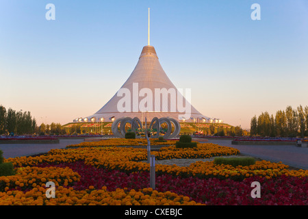 Khan Shatyr shopping and entertainment center, Astana, Kazakhstan, Central Asia, Asia - Stock Photo