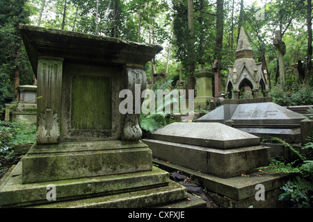 Highgate Cemetery West in London England - Stock Photo