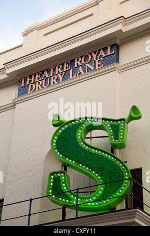 Shrek the Musical at the Theatre Royal, Drury Lane, Covent Garden London UK - Stock Photo