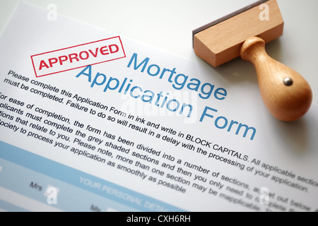Approved mortgage application - Stock Photo